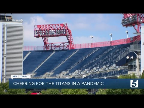 Titans fans cheer team from afar during empty home opener