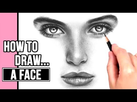 how to draw a realistic face for beginners