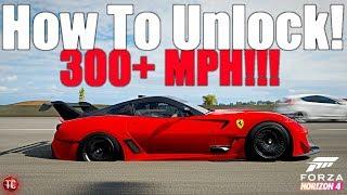 Forza Horizon 4: THIS CAR GOES OVER 300 MPH!! How To Unlock The Ferrari 599XX Evo