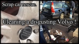 Cleaning a really dirty car - volvo v70
