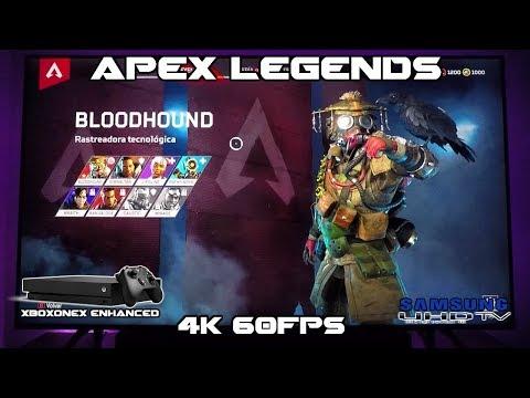 APEX LEGENDS Xbox One X 4k 60fps en SAMSUNG QLED Q6FN Ps4 Pro NU8000 Q7FN #AD