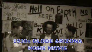 1930s WILD WEST JULY 4th PARADE  GLOBE, ARIZONA   HOME MOVIE  w/ APACHE INDIANS  33474