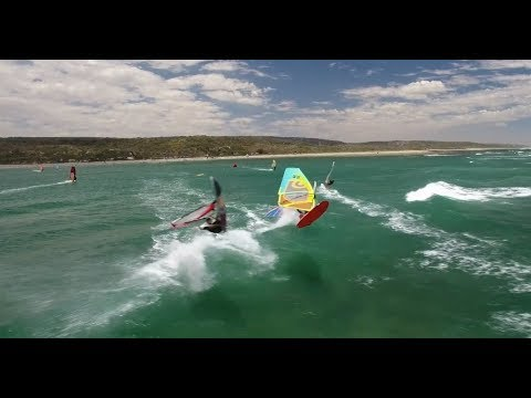 Fun windsurfing at Coronation