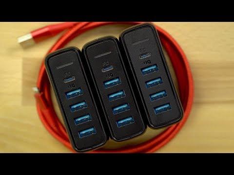 Klare Kaufempfehlung! Anker PowerPort 5 Ladegerät (60W) mit 4 x USB & 1 x USB-C (Fast Charging)