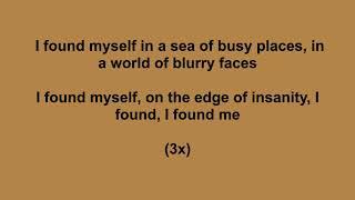 I found myself   Anna Clendening   Lyrics