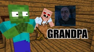 Monster School : GRANDPA HORROR GAME CHALLENGE   Minecraft Animation