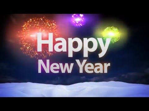 new year greeting 2017 animated video