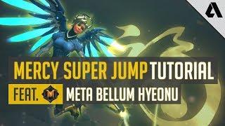 Overwatch Pro Tip -  Mercy Super Jump Tutorial | Meta Bellum Hyeonu Advanced Support Gameplay Guide