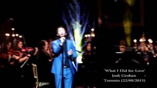 """Josh Groban Stages Concert: """"What I did For Love"""""""