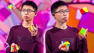 «Удивительные люди». Цюэ Цзяньюй. Спидкубер-жонглер