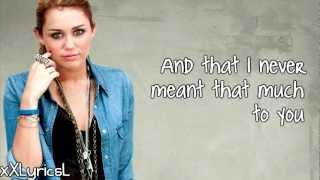 Miley Cyrus - Every Rose Has It's Thorn (Lyrics)