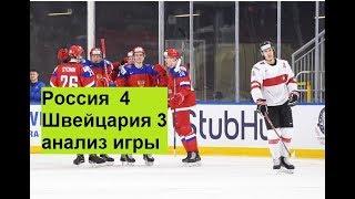 Россия Швейцария 4-3 Анализ игры хоккей чм2018