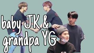 yoongi letting jungkook annoy him for 5 min straight | grandpa-grandson