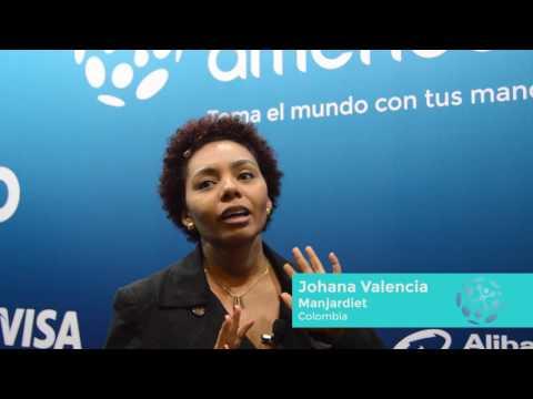 """""""Las mujeres tenemos todo el potencial emprendedor"""", dice Johana Valencia"""