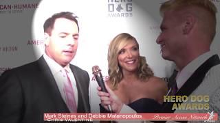 Mark Steines & Debbie Matenopoulos w/Chris Valentine - Hero Dog Awards