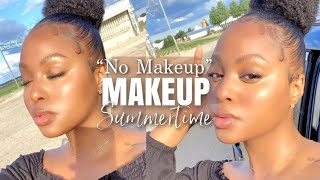 My No Makeup Makeup Look | Glowy Flawless Skin Tips + NO Foundation | Easy Summer Look