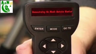 Demonstrating the Meade Autostar Handset