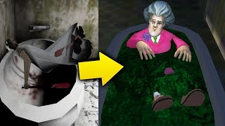 Утопил Злую Бабку Учительница Мисс Ти! - Scary Teacher 3D