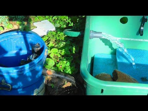 Teichfilter für den Gartenteich / Fischteich mit UVC-Lichtfilter (Garden Fish Pond)