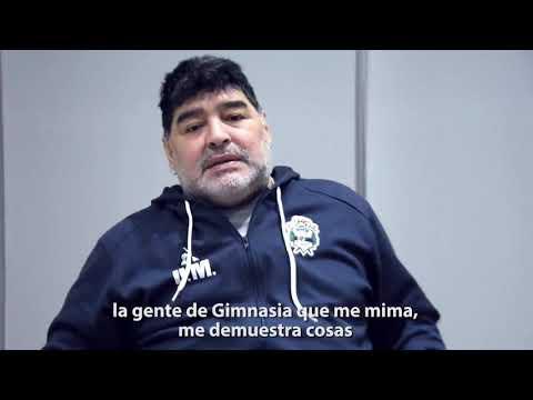 """Videos. Maradona: """"Gimnasia nos da todas las comodidades y su gente es extraordinaria"""""""