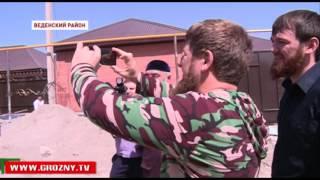 Рамзан Кадыров проинспектировал строительство объектов в Шатойском, Шалинском и Веденском районах