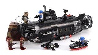 Lego China Enlighten 1730 Shark Submarine - MengBrick Build