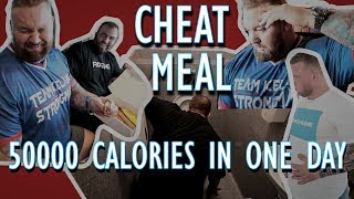 CHEAT MEAL DAY! 50,000 CALORIES! | THE MOUNTAIN