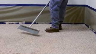 How to Apply a Coloured Epoxy Flake Floor System video thumbnail