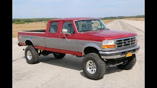 """SOLD - LIFTED 1997 Ford F350 Crew Cab For Sale~7.3L Diesel~New 6"""" Lift~37"""" Tires~Orig Body Panels"""