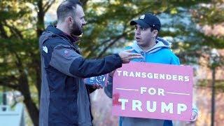 Transgenders For Trump Prank! (STUDENT GETS TRIGGERED)