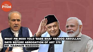 Here's what PM Modi told 'bade bhai' Farooq Abdullah when he met him on eve of Art 370 removal