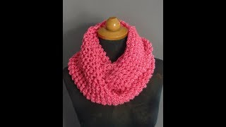 Crochet Infinity Scarf *Super Easy And Fast *