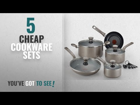 Best Cheap Cookware Sets [2018]: T-fal C508SE Excite Nonstick Thermo-Spot Dishwasher Safe Oven Safe