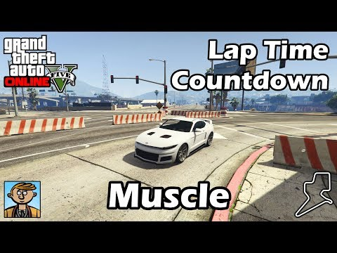 Fastest Muscle Cars (2018) - GTA 5 Best Fully Upgraded Cars Lap Time Countdown