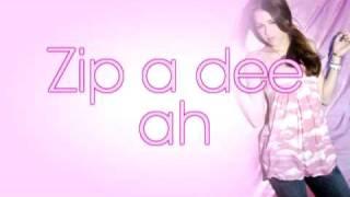 Miley Cyrus - Zip a Dee Doo Dah ~ w/ Lyrics on Screen! [HD]