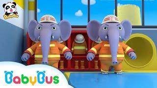 Những chú voi cứu hỏa dũng cảm   Đội cứu hỏa BabyBus   Nhạc thiếu nhi hay cho bé   BabyBus