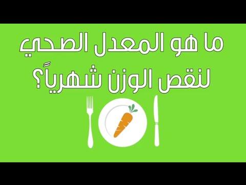 ريجيم| ما هو المعدل الصحي لنقص الوزن شهرياً؟