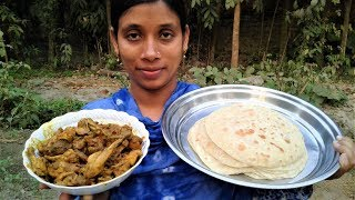 Bengali Favorite Chicken And Roti Recipe Prepared By Street Village Food | Delicious Breakfast