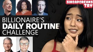 Singaporeans Try: Billionaire's Daily Routine Challenge