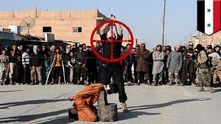 Snajper odstrzelił głowę bojownika ISIS, gdy ten uczył dżihadystów jak ścinać głowy