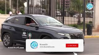 سيارة خاصة تقل الكعبي و التاكناوتي إلى معسكر المنتخب بعد نهاية مباراة الوداد ضد الدفاع الجديدي