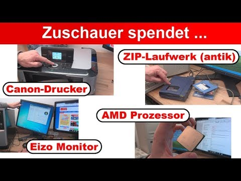 Überraschung 🤔 Zuschauer spendet ZIP-Laufwerk ✅ Monitor ✅ AMD Prozessor ✅ Drucker 👍