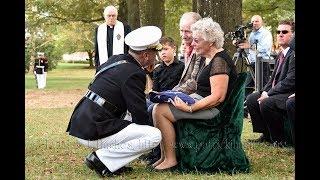 Arlington Full Honors Burial for Tarawa Marine 2nd Lt. George Stanley Bussa 10/10/2017