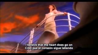 Celine Dion - My Heart Will Go On - Mi Corazón Seguira (subtitulos ing-esp)