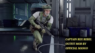 CAPTAIN REX REBEL OUTFIT MOD STAR WARS BATTLEFRONT II