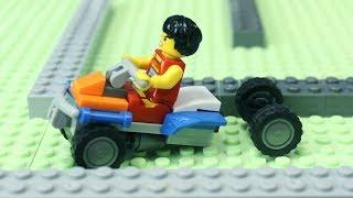 ТИШЕ ЕДЕШЬ ДАЛЬШЕ БУДЕШЬ! Лего мультик, гонка   анимация про машинки