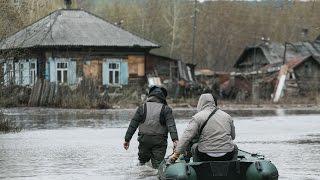 Паводок в г.Кемерово на улице Заречной
