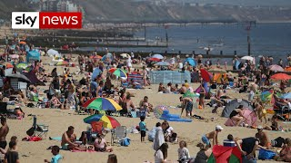 Despite pleas from some councils urging people to stay away, many have visited beaches and parks on the hottest day of the year so far.  Sunbathers and picnickers were spotted taking full advantage of the easing of lockdown restrictions, which since last week have allowed people in England to sunbathe and spend an unlimited amount of time outdoors.  Police in Wales issued fines to drivers making non-essential journeys.  #coronavirus #COVID19 #UK  SUBSCRIBE to our YouTube channel for more videos: http://www.youtube.com/skynews   Follow us on Twitter: https://twitter.com/skynews    Like us on Facebook: https://www.facebook.com/skynews   Follow us on Instagram: https://www.instagram.com/skynews   For more content go to http://news.sky.com and download our apps:    Apple: https://itunes.apple.com/gb/app/sky-news/id316391924?mt=8   Android https://play.google.com/store/apps/details?id=com.bskyb.skynews.android&hl=en_GB  Sky News videos are now available in Spanish here/Los video de Sky News están disponibles en español aquí https://www.youtube.com/channel/UCzG5BnqHO8oNlrPDW9CYJog