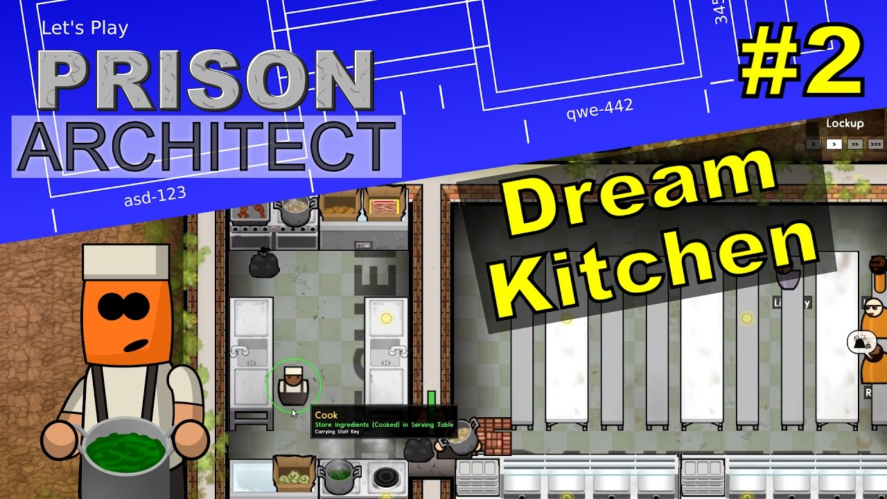 Prison Architect #2 | Feeding Prisoners with Canteen and Kitchens