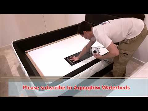 Waterbed heater installation.